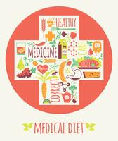 Vektorillustration der medizinischen Diät.