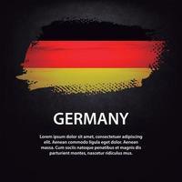 deutschland flagge bürste vektor