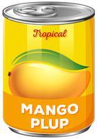 En plåt av mango plup vektor