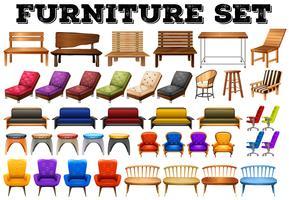 Olika design av moderna möbler