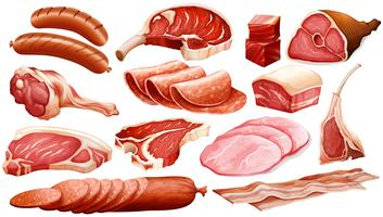 Olika typer av köttprodukter