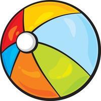 Strandball-Symbol vektor