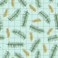 Jul och Gott Nytt År sömlöst mönster med barrträd. vektor