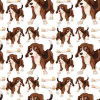 Beagle Dog nahtlose Muster vektor