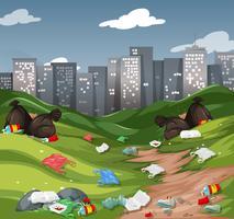 Müll im Stadtpark