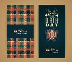 Alles Gute zum Geburtstagglückwünsche, Retro- Hintergrund der Weinlese mit ge vektor