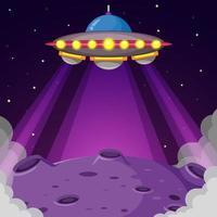 ufo über dem Planeten vektor