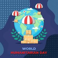 Welttag der humanitären Hilfe vektor