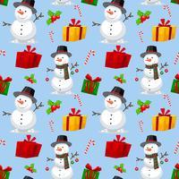 Seamless jul temat mönster vektor
