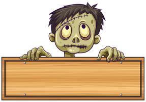 Zeichenvorlage mit Zombie dahinter