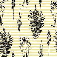 Abstraktes botanisches nahtloses Muster. Vektor Kräuter Hintergrund.
