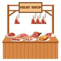Getrennter Fleischstall auf weißem Hintergrund vektor
