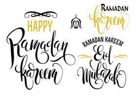 Ramadan Kareem. Satz von Ramadan-Logos