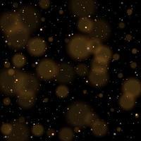 Gold Bokeh glänzend glitzernden goldenen und silbernen Sternen vektor