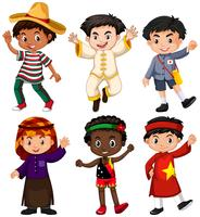 Jungen aus verschiedenen Ländern vektor