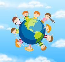 Internationale Studierende auf der ganzen Welt vektor