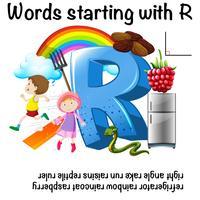 Arbeitsblattentwurf für Wörter, die mit R beginnen
