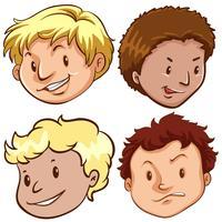 Satz unterschiedlicher männlicher Kopf vektor