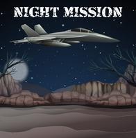 armé flygstyrka i natt uppdrag vektor