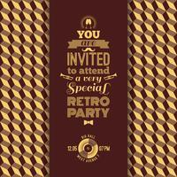 Einladung zur Retro-Party. Vintage retro geometrischen Hintergrund. vektor