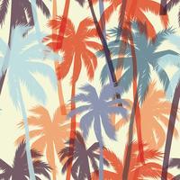 Nahtloses exotisches Muster mit Palmblättern.