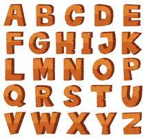 Schriftart für englische Alphabete mit Felsenbeschaffenheit