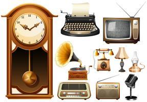 Många typer av antika elektroniska apparater