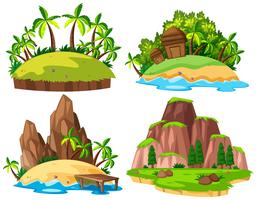 Set der isolierten Insel vektor