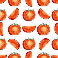 Muster rote Tomate, Gemüseketchup für Robbe vektor
