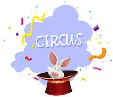 Ein Kaninchen-Zaubertrick-Zirkus vektor