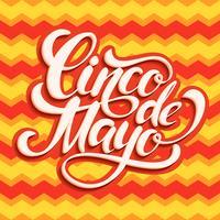 Cinco de Mayo bokstäver design. vektor