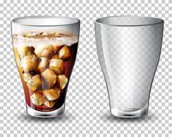 Set kohlensäurehaltiges Getränk vektor