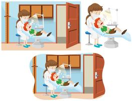 Ein Junge und eine Zahnklinik