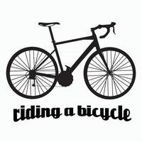 Fahrrad-Symbol-Vektor-Illustration vektor