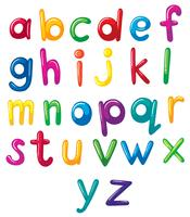 Små bokstäver i alfabetet vektor