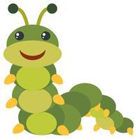 Grön caterpillar med gott ansikte