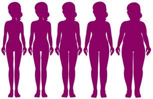 Satz Figuren mit unterschiedlichem Gewicht