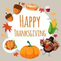 Happy Thanksgiving-Kartenkonzept vektor