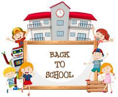 Whiteboard und zurück zur Schule vektor