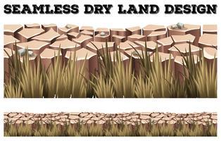 Sömlöst torrt land med gräs