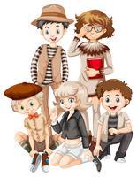 Grupp av hipster tonåring vektor