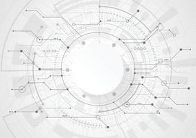 abstrakter geometrischer Hintergrund mit moderner futuristischer Leiterplatte. vektor