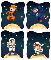 Astronaunts fliegen in den Raum