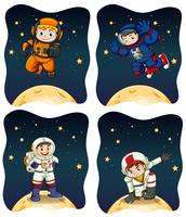 Astronaunts flyger i rymden