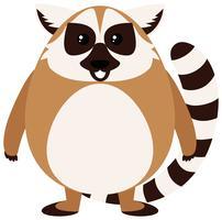 Brun lemur med gott ansikte vektor