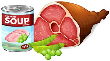 En uppsättning konserverad mat vektor