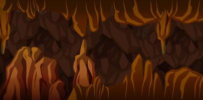 Underjordisk grotta landskap scen vektor
