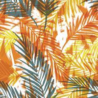 Tropiskt sommartryck med palm.