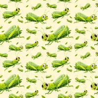Nahtloser Hintergrund der grünen Heuschrecke vektor