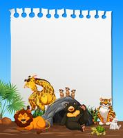 En anteckningspapper med djurtema
